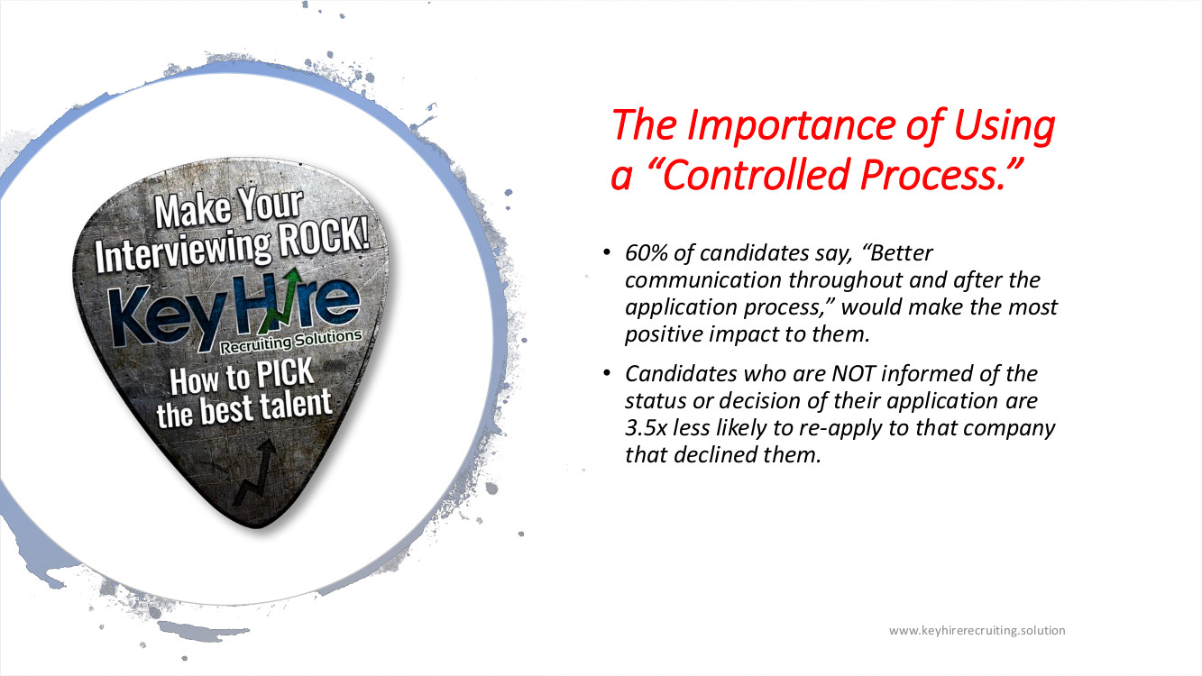 PRESENTATION MAKE YOUR INTERVIEWING ROCK IMPORTANCE OF USING A CONTROLLED PROCESS