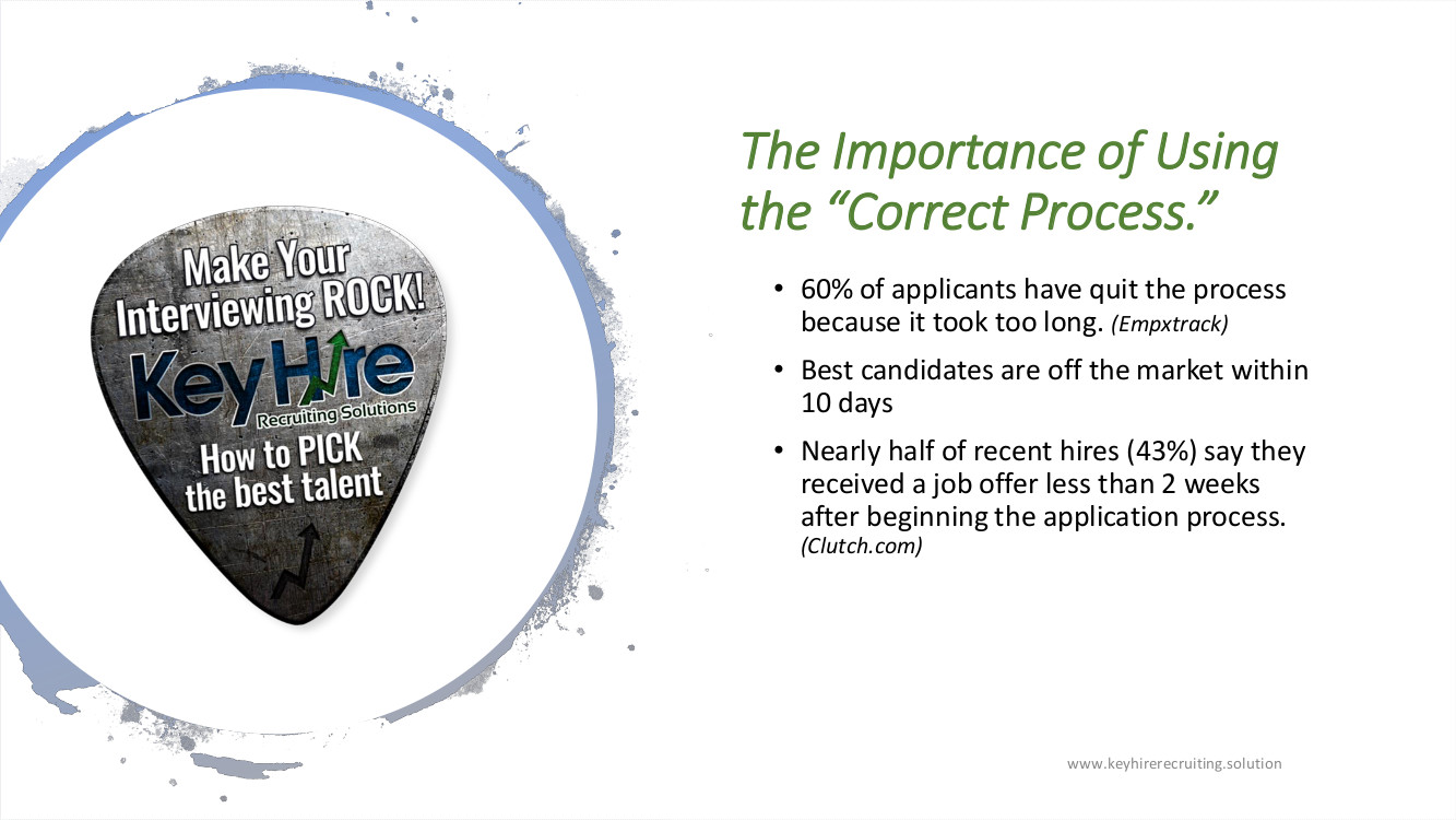 PRESENTATION MAKE YOUR INTERVIEWING ROCK IMPORTANCE OF USING THE CORRECT PROCESS