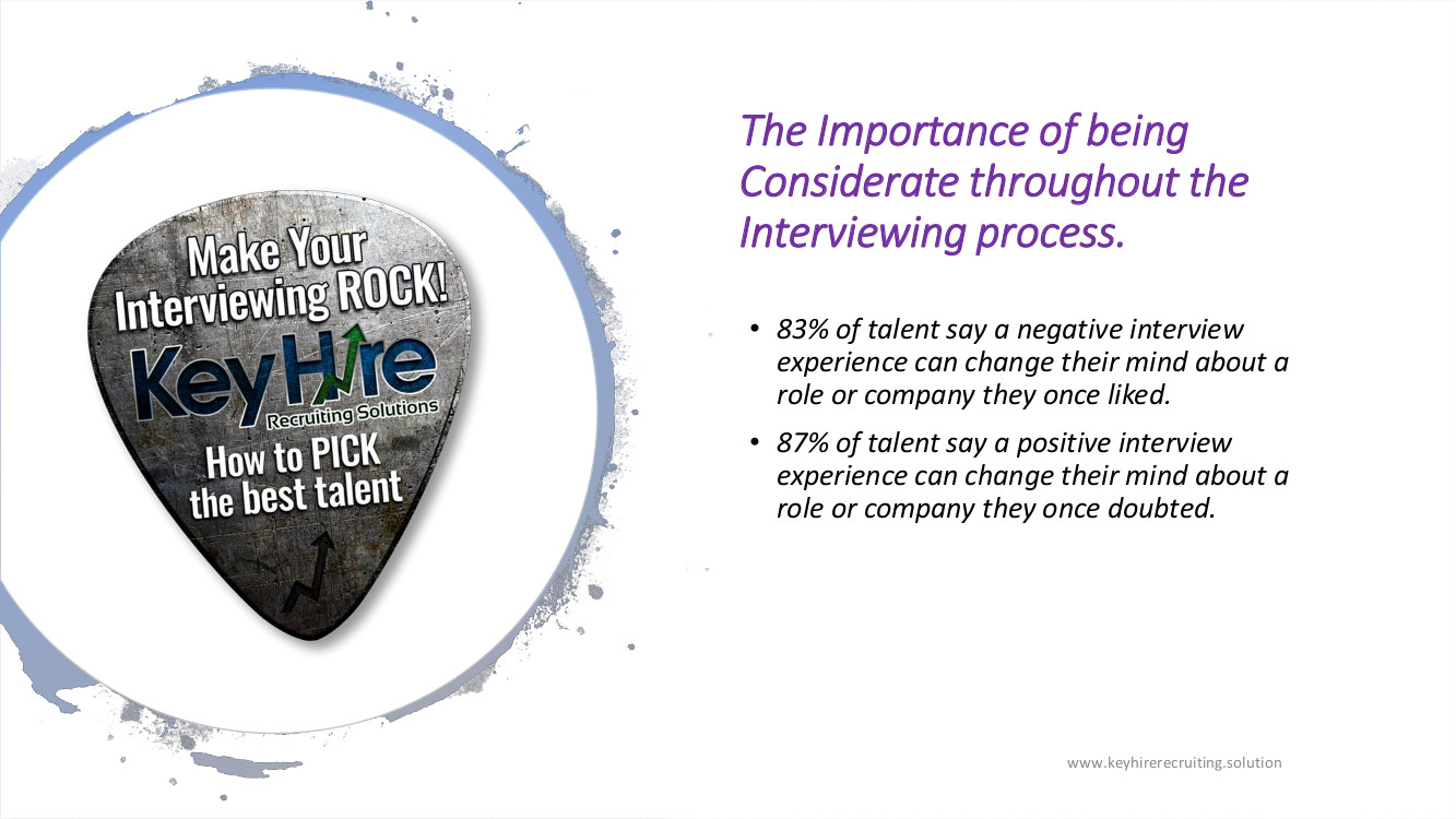 PRESENTATION MAKE YOUR INTERVIEWING ROCK THE IMPORTANCE OF A CONSIDERATE PROCESS